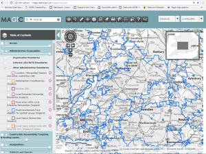 Screen shot of MAGIC Maps