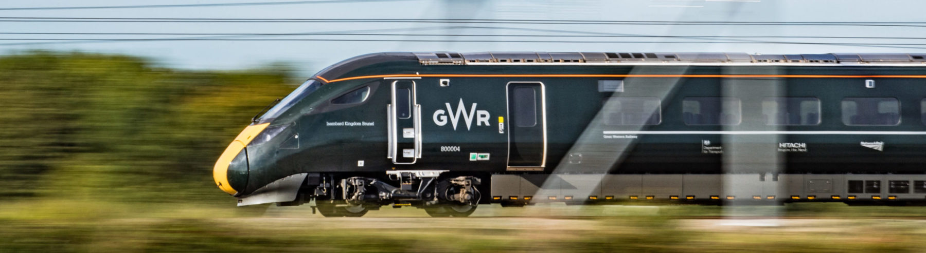 GWR IET No. 800004 'Isambard Kingdom Brunel' is captured at speed along the Great Western Mainline near Challow on 28th August 2017.